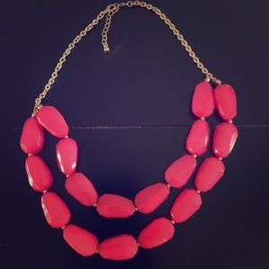 Pink & Gold Chunky Statement Necklace